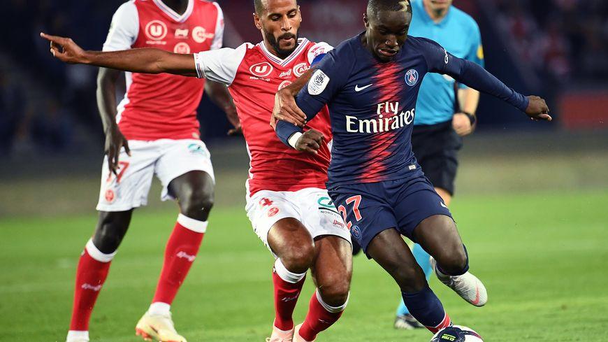 Le capitaine du Stade de Reims, Alaixys Romao, ici au match aller au Parc des Princes.