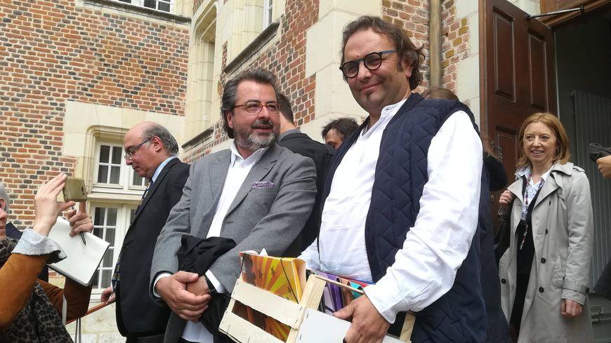 Sébastien David à la sortie du Tribunal Administratif à Orléans