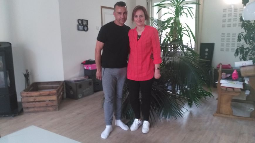 Céline et son mari David