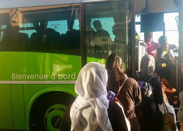 Les femmes et enfants yézidis sont arrivés à Toulouse et ont rejoint ensuite divers hébergements dans la région toulousaine et dans le sud de la France