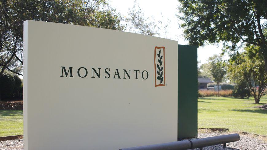 Logo du groupe américain Monsanto, en septembre 2016, à Saint-Louis aux Etats-Unis
