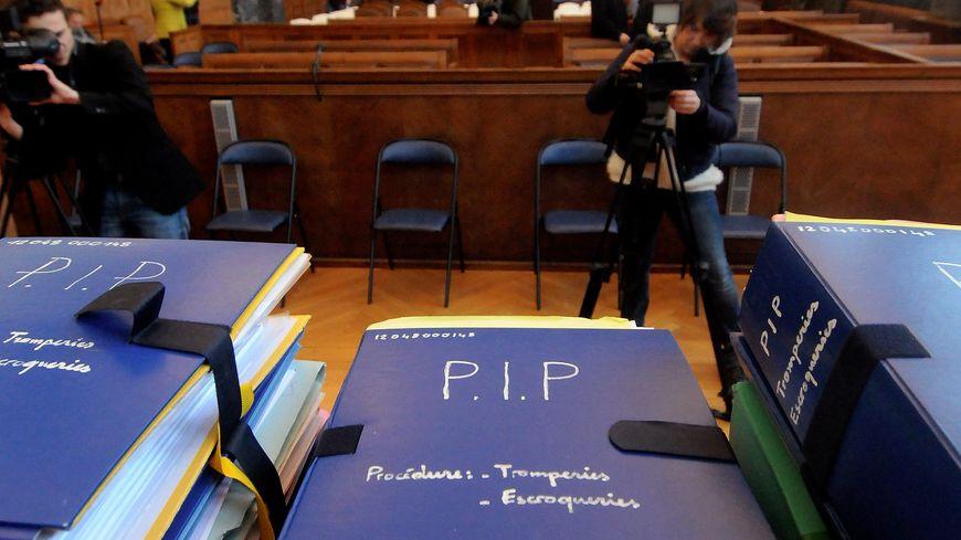 La salle d'audience du tribunal de Marseille lors du procès de 2013 dans le scandale des prothèses PIP