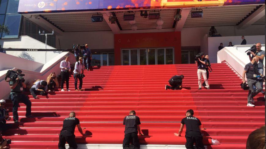 Le tapis rouge du 72ème Festival déroulé ce mardi matin