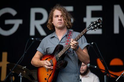 Le musicien Kevin Morby en concert le 19 août 2018 à Brecon, au pays de Galles.
