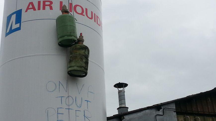 """L'inscription sur l'usine """"piégée"""", qui a inspiré le documentaire"""