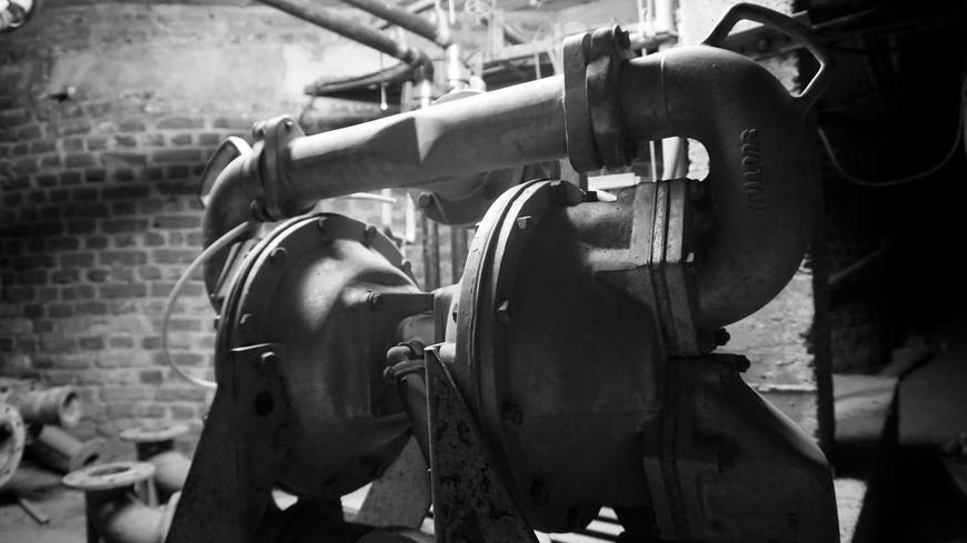 Pompe de rabattement de nappes phréatique, sous-sol du CNAM