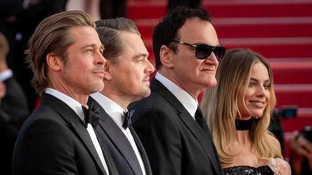 Brad Pitt, Leonardo DiCaprio, Quentin Tarantino et Margot Robbie