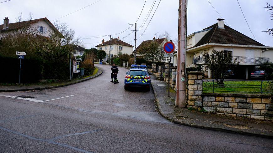 Le domicile de Jonathann et Alexia Daval, à Gray en Haute-Saône, le 9 janvier 2018.