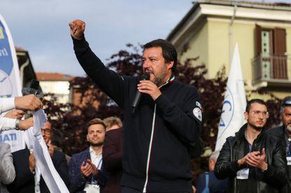Matteo Salvini, ici en meeting à Turin, espère réunir 100.000 personnes dimanche prochain à Miilan