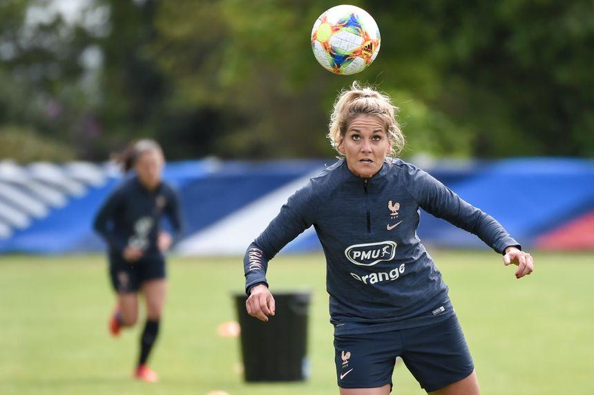 Julie Debever s'entraîne à l'approche de la Coupe du Monde le 9 mai dernier.