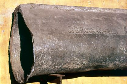 Roman Lead Water-Pipe With Inscription