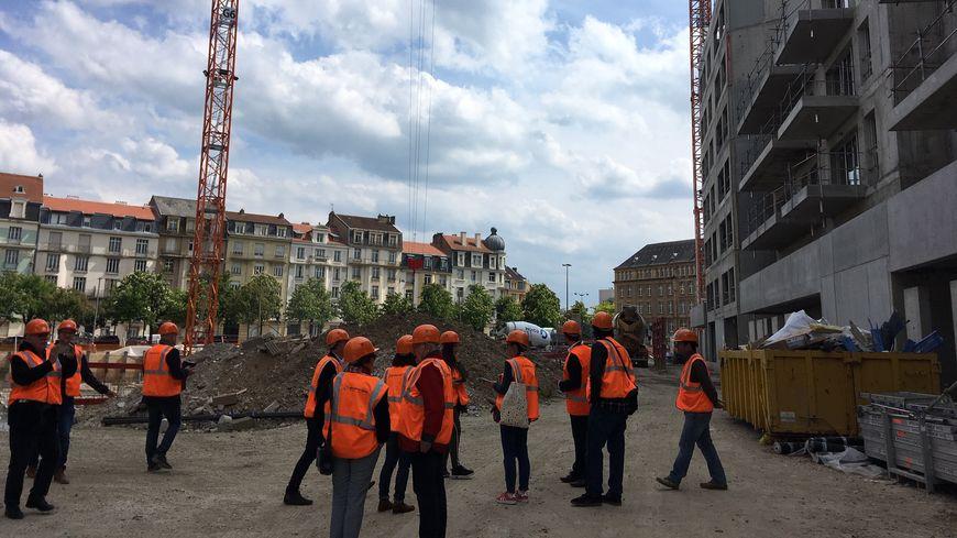 """Visite de chantier du projet """"Coeur Impérial"""" à la place de l'hôpital Bon Secours"""
