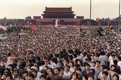 la place Tiananmen, à Pékin, le 2 juin1989