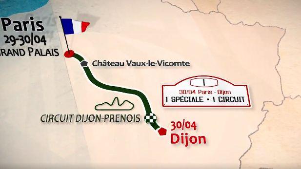 Le tour auto entre Paris et Dijon