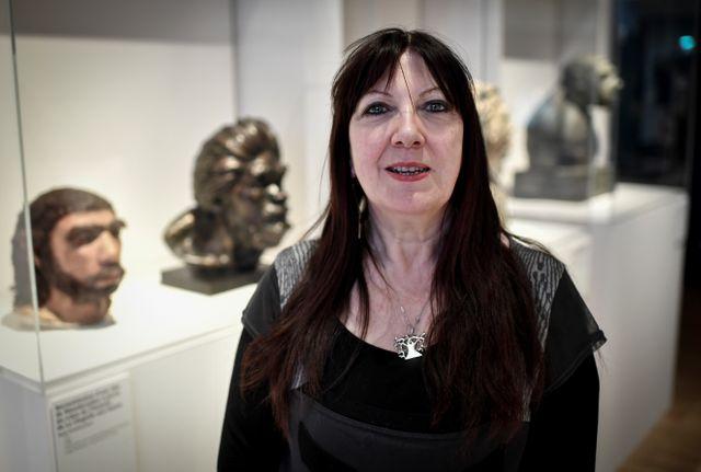 """Marylène Patou-Mathis, dans l'exposition """"Neandertal"""" qu'elle a conçue et qui était présentée au Musée de l'Homme à Paris jusqu'en janvier dernier"""