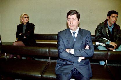 Patrick Balkany et son épouse Isabelle comparaissent devant le tribunal correctionnel de Nanterre, le 19 mars 1996, pour l'utilisation d'employés municipaux à des fins personnelles.