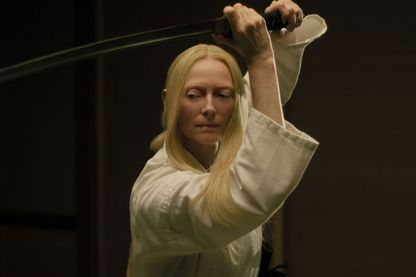 "Tilda Swinton dans le nouveau film de Jim Jarmush, ""The Dead Don't Die"""