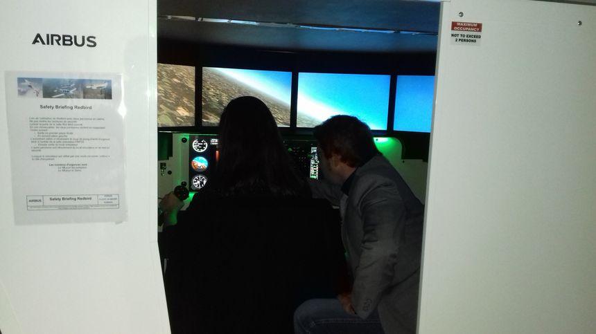 L'intérieur du simulateur fixe