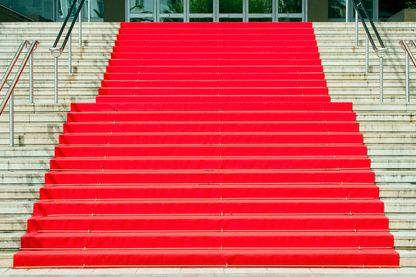 Escalier rouge du festival de Cannes