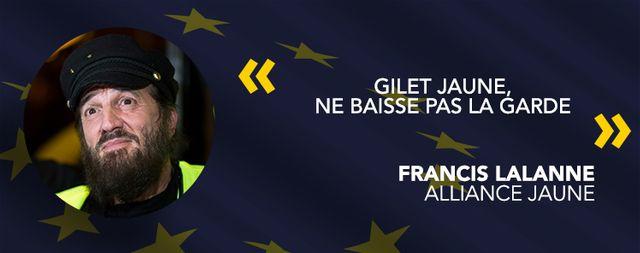 Francis Lalanne, tête de liste Alliance jaune.