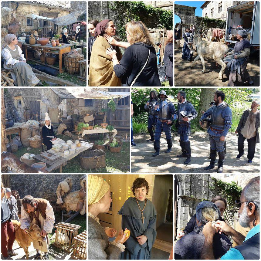 """A Sare, sur le plateau du tournage d' """"Akelarre"""" : une scène de marché avec plus de 35 figurants."""