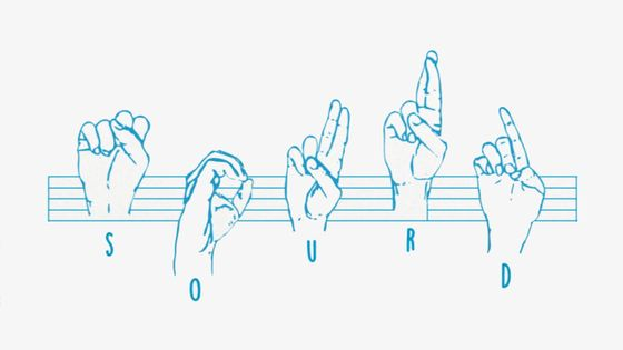 sourd en langage des signes
