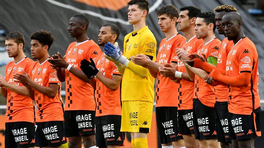 Le FC Lorient, avant son match contre Sochaux