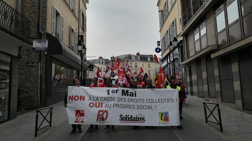 Les syndicats CGT, FO, FSU et Solidaires avaient appelé à manifester ce 1er mai à Laval