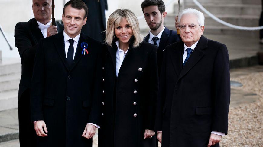 Emmanuel Macron et le président italien Sergio Mattarella