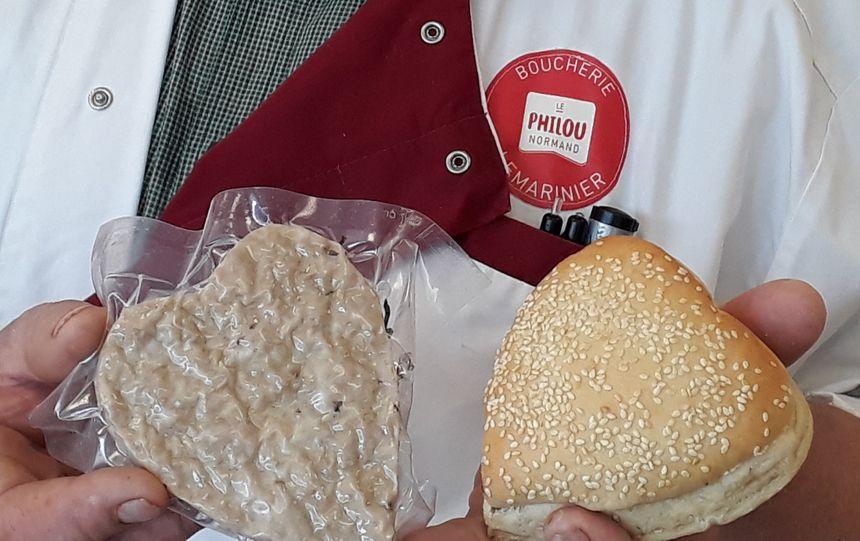 Le burger en forme de cœur imaginé par François Lemarinier.
