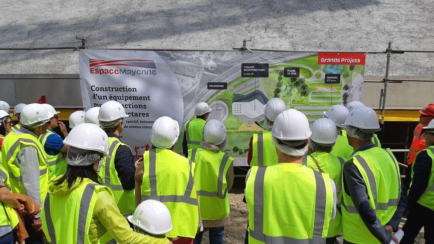 Des riverains ont pu visiter le chantier de l'Espace Mayenne le samedi 18 mai 2019