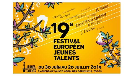 19e Festival Européen Jeunes Talents du 30 juin au 20 juillet 2019