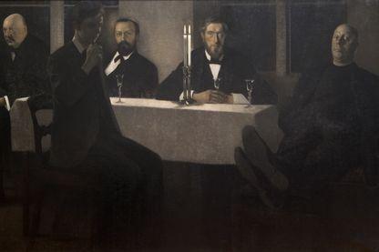 """""""Cinq Portraits"""", peint par Vilhelm Hammershøi en 1901-1902. Stockholm, Thielska Galleriet. Photo credit : Tord Lund"""