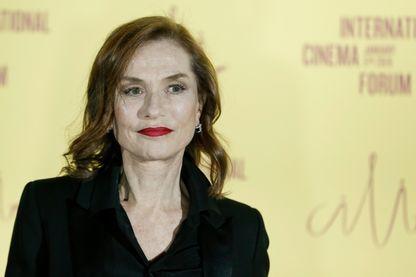 L'actrice Isabelle Huppert, au forum international du cinéma le 5 janvier 2019 à Barcelone.