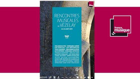 Rencontres Musicales de Vézelay du 22 au 25 août 2019