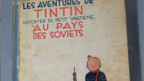 Une BD originale d'Hergé mise en vente
