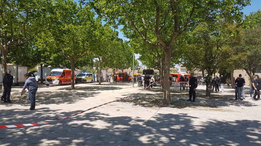 Les sapeurs-pompiers et la gendarmerie étaient sur place.