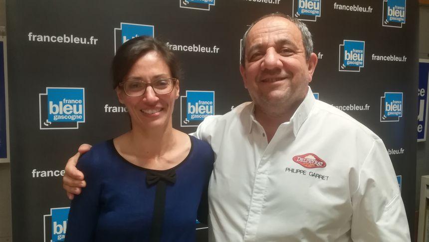 Isabelle notre auditrice et Philippe Garret
