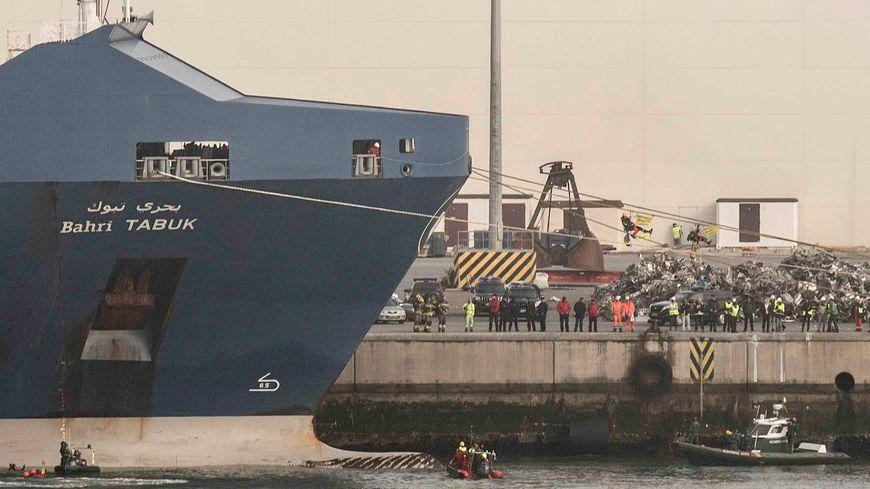 Le cargo saoudien Bahri Tabuk au port de Bilbao (Espagne) en février 2018