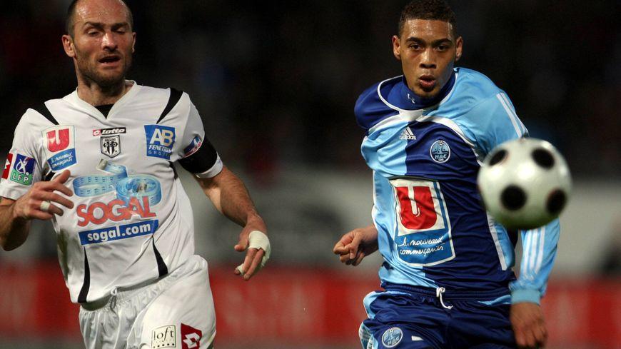 Cédric Lécluse, sous les couleurs d'Angers, a terminé sa carrière avec comme entraîneur Jean-Louis Garcia