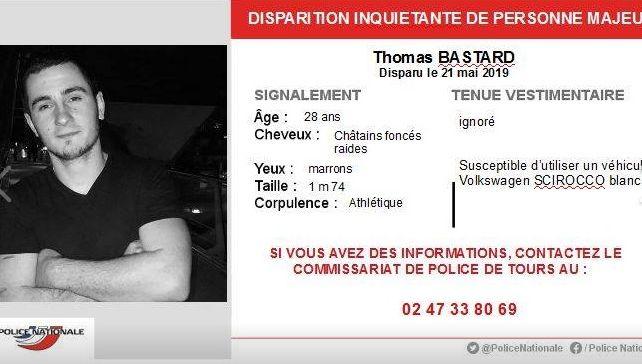 Disparition inquiétante d'un homme de 28 ans à Joué-les-Tours