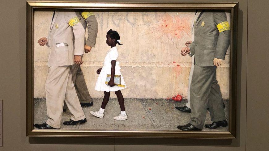 «Le problème qui nous concerne tous», une des toiles de Norman Rockwell à voir au Mémorial de Caen à partir du 10 juin 2019.
