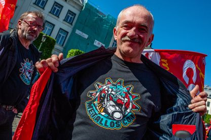 Marche de protestation des travailleurs européens pour de meilleurs salaires à Bruxelles, avril 2019.