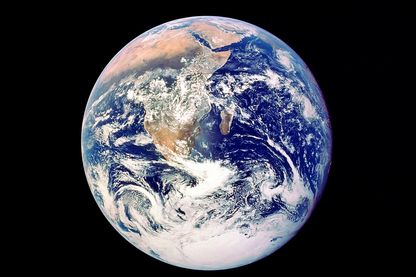 Whole Earth from space, viewed from Apollo 17, December 1972.