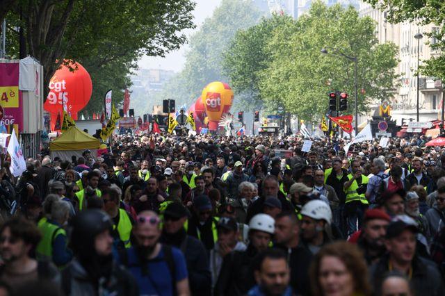 Le cortège parisien a rassemblé 16 000 personnes selon la préfecture, 40 000 selon un comptage indépendant réalisé pour un collectif de médias, et 80 000 selon la CGT