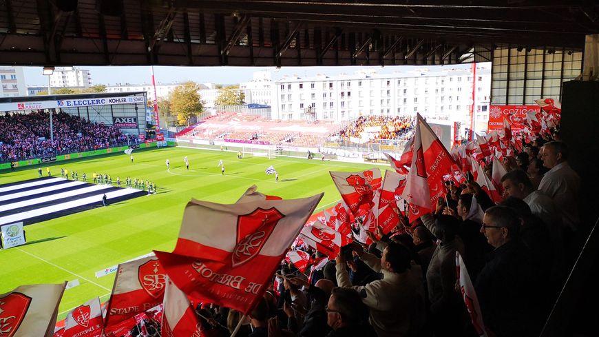 Tribune au stade Francis Le Blé à Brest