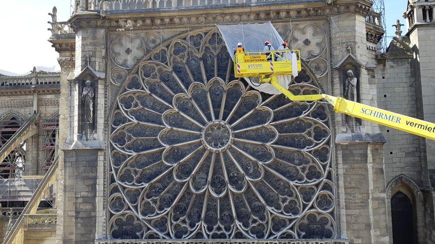 Le chantier de Notre-Dame de Paris, un mois après l'incendie