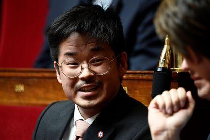 Joachim Son-Forget, pendant une séance de questions au gouvernement à l'Assemblée nationale française à Paris le 27 mars 2019.