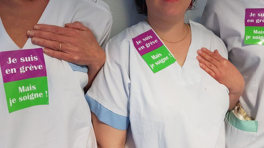 Infirmières en grève au service neurologie de l'hôpital de La Rochelle
