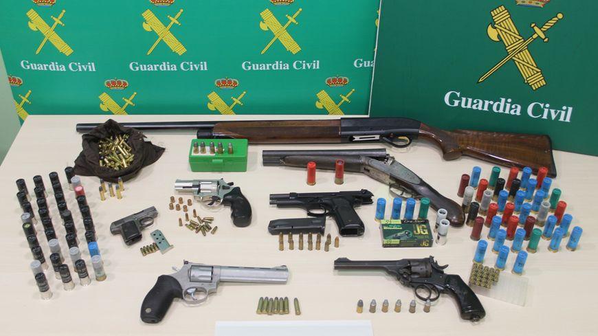 Des dizaines d'armes ont été saisies
